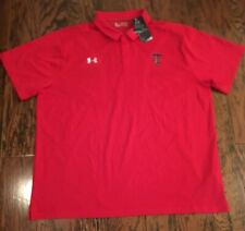 Under Armour On Field Collection TEXAS TECH Sz 4XL TTU HeatGear Red SS NWT