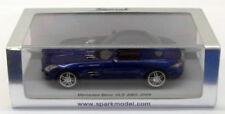 Voitures de sport miniatures bleus pour Mercedes