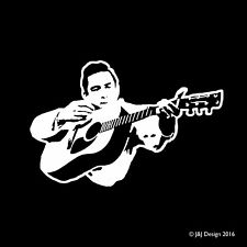 Johnny Cash Guitar Country Music Singer Songwriter Decal Sticker White