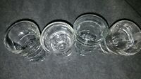 Lot of 4 Large 2oz Vintage Libbey White Striped Shot Glasses