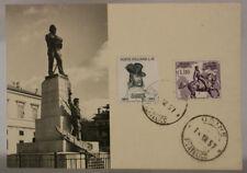 CARTOLINA CON ANNULLO PRIMO GIORNO 1957 UDINE 75° MORTE GARIBALDI fp #17770