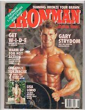 IronMan Bodybuilding muscle magazine Gary Strydom /Lisa Lorio 8-90 no label