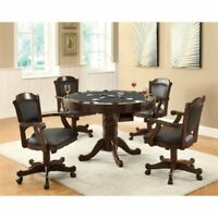 Coaster Turk 5 Piece Round Dining Set in Tobacco and Black