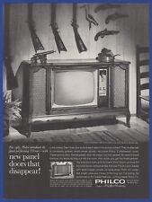 "Vintage 1962 PHILCO Miss America 23"" Console Television Set TV Print Ad 60's"