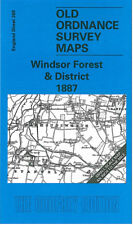 OLD ORDNANCE SURVEY MAP WINDSOR FOREST ASCOT SLOUGH BAGSHOT BRACKNELL 1887