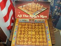VINTAGE ALL THE KINGS MEN 1979 BOARD GAME AGES 8 UP - 2 PLAYERS