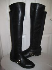 MARC BY MARC JACOBS Black Leather Over The Knee BootS Women's Sz 41 / 10.5 - 11