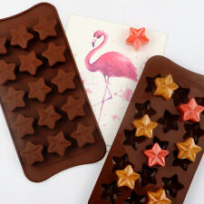 15 Stars Silicone Cake Chocolate Baking Fondant Mold Ice Cube Tray Jelly Mould