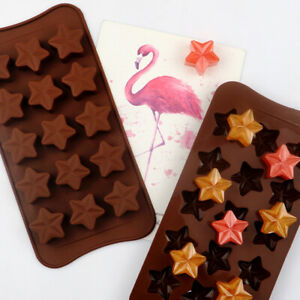 15 Stars Silicone Cake Chocolate Baking Fondant Mold Ice Cube Tray Jelly Mould