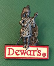 Vintage Dewars Collectors Scotsman Logo Scotch Whiskey New Oldstock Lapel Pin