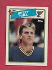 1988-89 TOPPS # 66 BLUES BRETT HULL ROOKIE NRMT-MT CARD