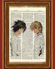 Light and L From Death Note Anime Dictionary Art Print Picture Book Manga Kira