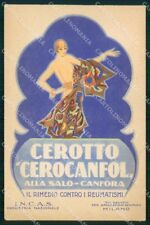 Milano Città Cerotto Cerocanfol Pubblicitaria cartolina RT5167