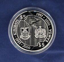 1997 Samoa & Kiribati Silver Proof $5 Half coins in Capsule with COA   (Z10/43)