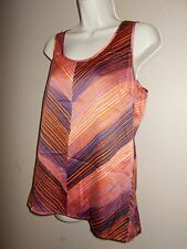 Outback Red Womens Size M Chevron Striped Tunic Sleeveless