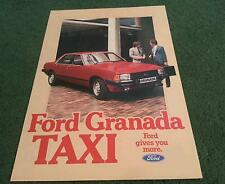 Oct 1981 1982 FORD GRANADA DIESEL TAXI - UK COLOUR FOLDER BROCHURE - FA553