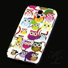 Samsung Galaxy S4 Hard Case Schutz Hülle Handy Schale Bunte Eule Owl Etui