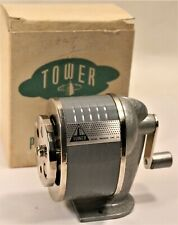 Vintage Tower Sears Roebuck and Co. Industrial Pencil Sharpener Office w. BOX