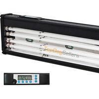 T5 Quad 24 Timer LED Aquarium Light Marine FOWLR Cichlid 4x 24W Odyssea