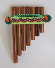 Pan Pipes Flute 7 Small Pipes Beginners Level Hand Made Nice Sound #A86