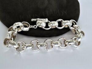 JOHN HARDY RARE Bamboo ROLO Sterling Silver Chain Link Bracelet - Stunning! $725