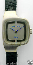 """BULOVA """"DIOR"""" DAMEN ARMBANDUHR in STAHL/DOUBLE aus den 1970er Jahren,mechanisch"""