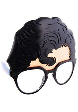 SUPERMAN GLASSES Man of Steal Super Hero Character Sun Stache DC Comics Licensed