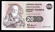 More details for £10 very rare clydesdale banknote cole hamilton 1985 cl45c gef lord kelvin