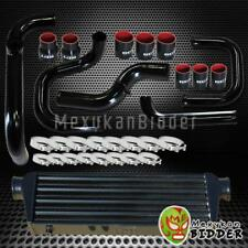 BLACK INTERCOOLER + PIPING SQV/SSQV BOV FLANGE + COUPLERS KIT FOR HONDA CIVIC