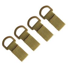 4pcs Tactical Nylon Strap Molle Hanging Belt Backpack Hook Webbing Mud