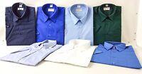 New Mens Short Sleeve Shirt Business Work Smart Formal Casual Dress Shirt