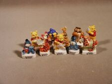 Disney Winnie the Pooh Miniature Porcelain French Feves Tigger Eeyore Piglet Owl