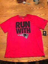 NIKE NEW ENGLAND PATRIOTS NFL MENS TEAM SPIRIT SHORT SLEEVE SHIRT SMALL