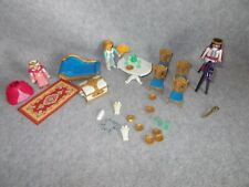 Lot Playmobil Fairy Tale Royal Castle Figures Table Rug Dollhouse Furniture Set