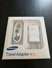 New Genuine Samsung Galaxy S9 Plus S10 Note 9 Fast OEM Wall Charger+Type-C Cable