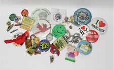 Pinback - Vintage Lot of Mixed Buttons Pins Brickyard 400 Chevrolet Vfw 34 pcs.