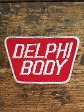 """Vtg Delphi Body 4.25"""" Embroidered Patch Badge Truck Parts Equipment Indiana USA"""