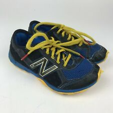 NEW BALANCE Minimus Trail YOUTH Running Shoes KT20BBG Blue YELLOW Sneaker Sz 1.5