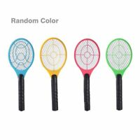 New Battery Operated Electric Insect Mosquito Fly Bug Zapper Bat Racket 23222C