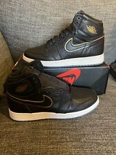 Nike Air Jordan 1 Retro High Og Big Kids Black Gold 575441-031 Sz 6.5Y - Sz 8 W