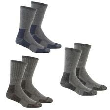 Mens 2 Pack Wool Blend Cushioned Walking Socks Size US 7-12