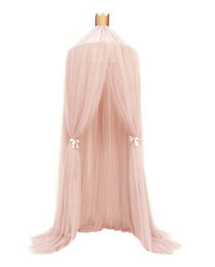 Pink Kids sheer bed canopy