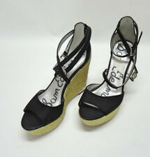 328a5e5fd12d SAM EDELMAN TURNER ROPE WEDGE BLACK SUEDE ROPE WEDGES SIZE 8.5US 39.5EU