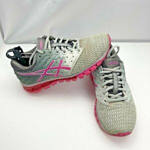 ASICS Gel-Quantum 180 Running Athletic Shoes Sneakers Gray T6G7N Women's Size 7