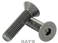 M5 COUNTERSUNK SCREWS ALLEN KEY SOCKET BOLTS SELF COLOUR BLACK HIGH TENSILE 10.9
