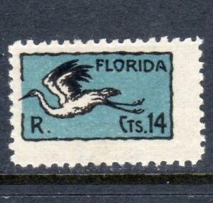 Uruguay Sc. C8 Inscribed FLORIDA Airmail Mint Hinged Issued 1925