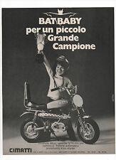 Pubblicità 1971 BATBABY CIMATTI MOTO MOTOR BATMAN advertising werbung publicitè