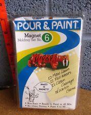 POUR & PAINT craft kit Magnet Molding Set dinosaurs NWT magic mix Easy Art