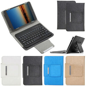 Universal Leather Stand Case Wireless Keyboard For iPad Samsung 7-10.5in Tablet