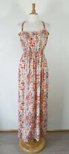 GUESS // Size M // NEW Aztec Boho Crossover Straps Maxi Dress